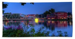 Peaceful River Hand Towel by Dave Files