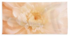 Peach Mum Luminous Painted Blossom Hand Towel