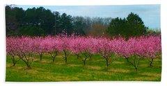 Peach Tree Grove By Jan Marvin Bath Towel