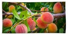 Peaches Hand Towel