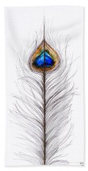 Peacock Abstract Hand Towel