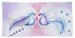 Peacock Dance Hand Towel by Keiko Katsuta