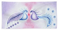 Peacock Dance Bath Towel