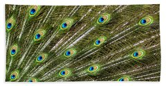Peacock Feather Abstract Pattern Hand Towel