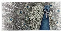 Peacock Square Hand Towel