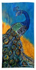 Peacock Waltz #3 Bath Towel
