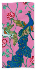 Peacocks Flying Southeast Bath Towel by Xueling Zou