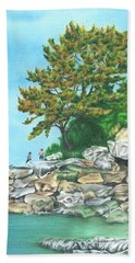 Peaks Island Hand Towel by Troy Levesque