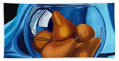 Hand Towel featuring the painting Pear Anyone by Laura Forde