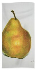 Pear Practice Bath Towel by Marna Edwards Flavell