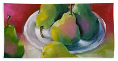 Hand Towel featuring the painting Pears by Michelle Abrams