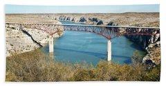 Hand Towel featuring the photograph Pecos Bridge by Erika Weber