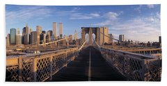 Pedestrian Walkway Brooklyn Bridge New Bath Towel