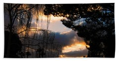Hand Towel featuring the photograph Peek A Boo Sunset by Janice Westerberg