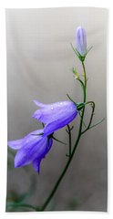 Blue Bells Peeking Through The Mist Hand Towel