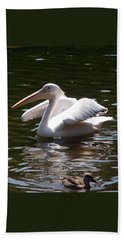 Pelican And Friend Bath Towel