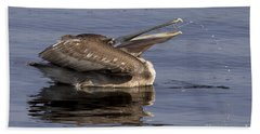 Pelican Fountain  Bath Towel