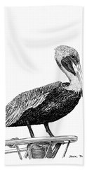 Monterey Pelican Pooping Bath Towel