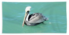 Bath Towel featuring the photograph Pelican by Oksana Semenchenko