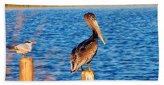 Pelican On A Pole Hand Towel