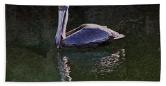 Pelican Zen Hand Towel by Suzanne Stout