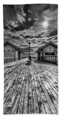 Penarth Pier 2 Monochrome Bath Towel by Steve Purnell