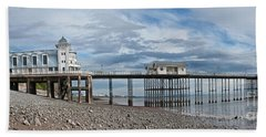Penarth Pier Panorama 1 Hand Towel