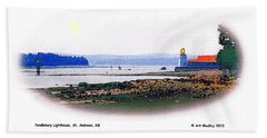 Pendlebury Light At St. Andrews Harbour Hand Towel