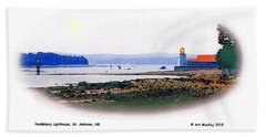 Pendlebury Light At St. Andrews Harbour Bath Towel