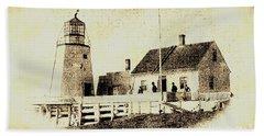 Pendlebury Lighthouse St Andrews Nb 1886 Bath Towel