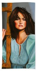 Penelope Cruz Hand Towel by Paul Meijering