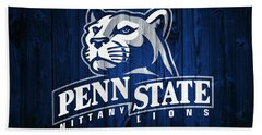 Penn State Barn Door Bath Towel by Dan Sproul