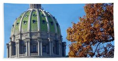 Pennsylvania Capitol Building Bath Towel by Joseph Skompski