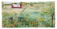 Pennsylvania Pasture Bath Towel by Christine Lathrop