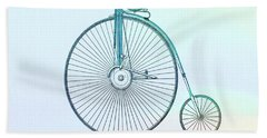 Penny-farthing Bicycle Color Hand Towel by Dan Sproul