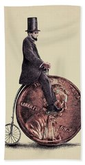 Penny Farthing Hand Towel by Eric Fan