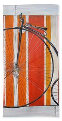 Penny-farthing Hand Towel by Marilyn  McNish