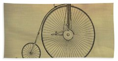 Penny Farthing Poster Hand Towel by Dan Sproul