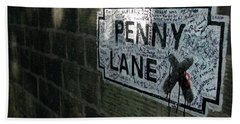 Penny Lane Hand Towel by Jonah  Anderson