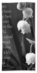 Bath Towel featuring the photograph Penny Lily by Barbara St Jean