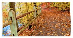 Pennypack Trail Philadelphia Fall Bath Towel