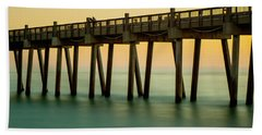 Pensacola Beach Fishing Pier Bath Towel