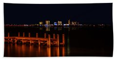 Pensacola Beach Reflections Bath Towel