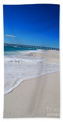 Hand Towel featuring the photograph Pensacola Peir by Linda Mesibov