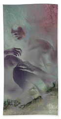 Bath Towel featuring the drawing Pensive With Texture 2 by Paul Davenport