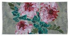 Peony Blossoms Floral Garden Art Walk Bath Towel