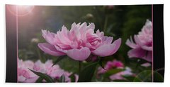 Hand Towel featuring the photograph Peony Garden Sun Flare by Patti Deters