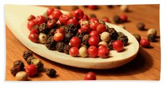 Peppercorns Bath Towel by Joseph Skompski