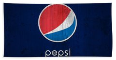 Pepsi Barn Sign Bath Towel by Dan Sproul