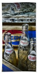 Pepsi Bottles And Crates Hand Towel